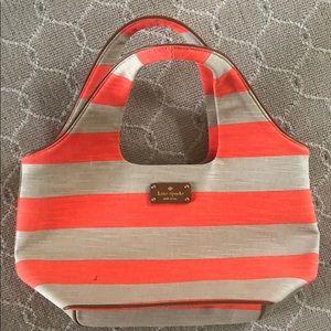 Kate spade orange and beige purse